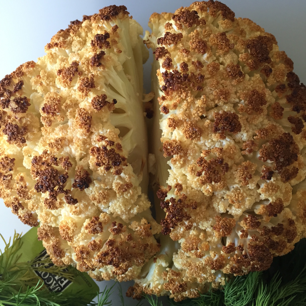 ROASTED CAULIFLOWER, FETA AND YOGURT DIP