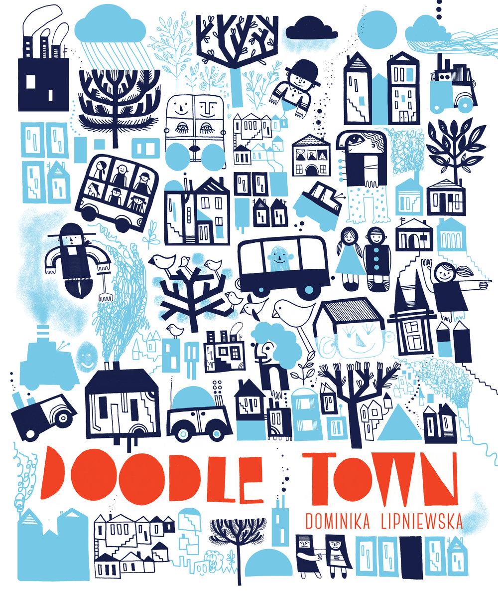 'Doodle Town' activity book by Dominika Lipniewska
