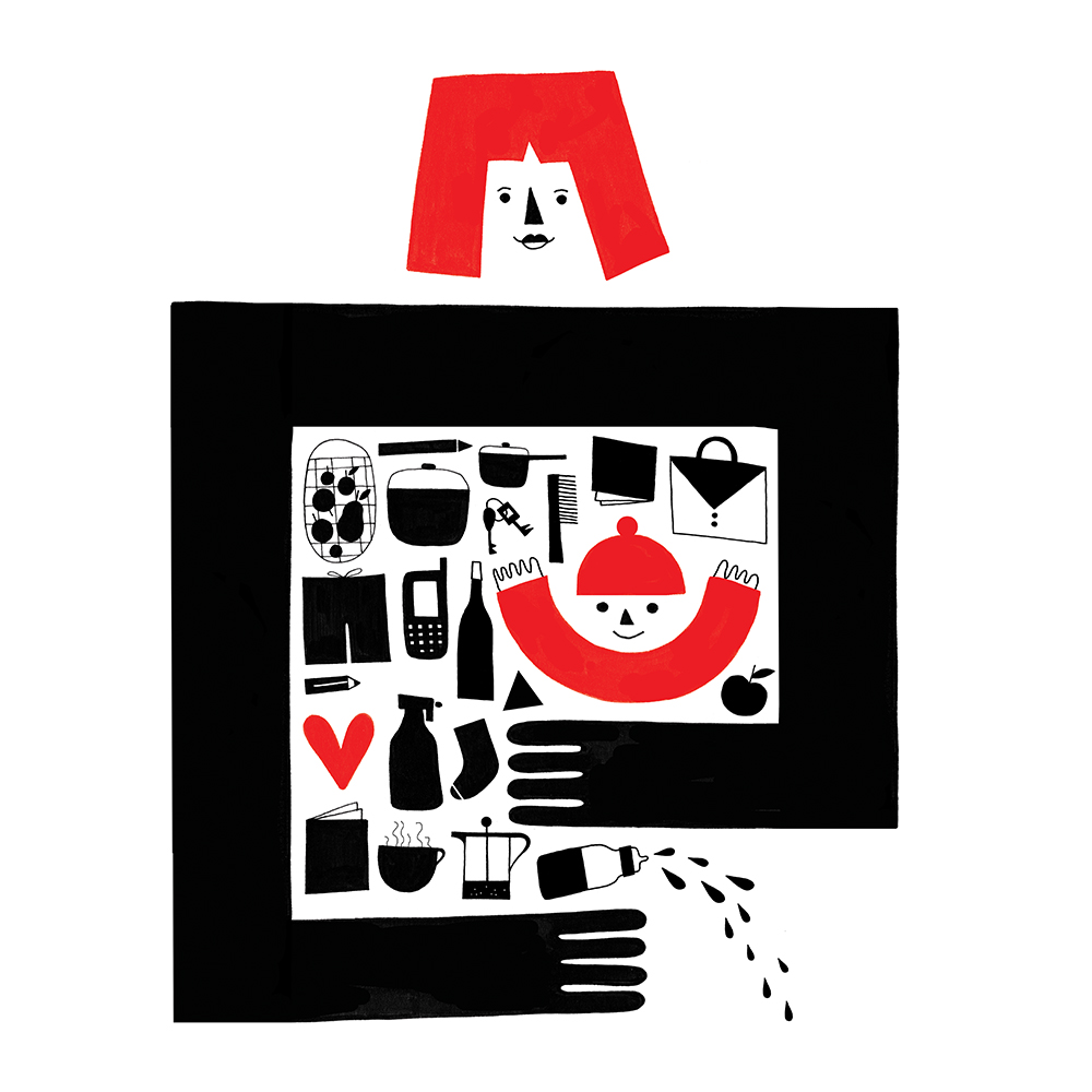 'Mamo' screen printed poster by Dominika Lipniewska