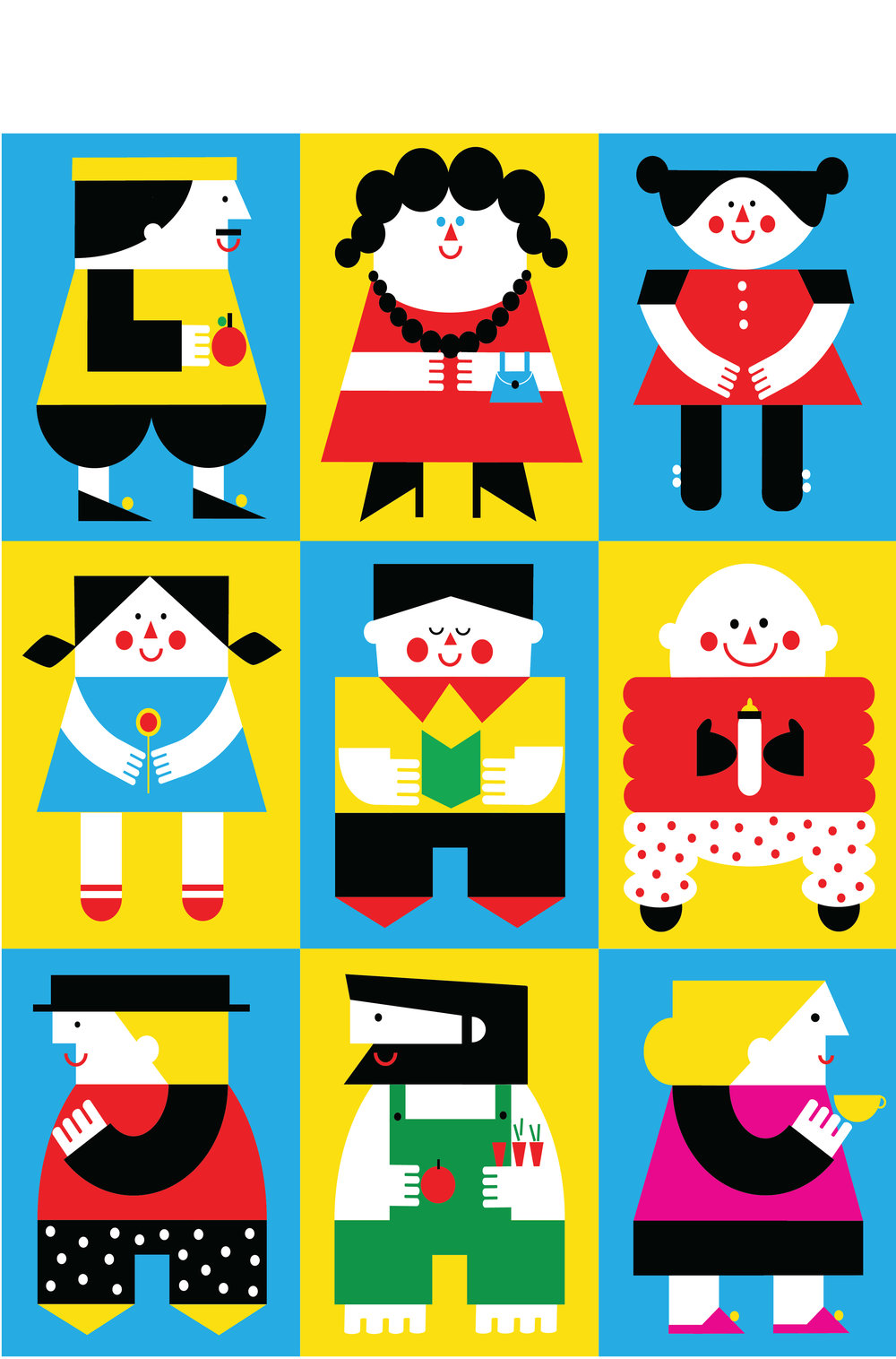 Graou magazine illustrations by Dominika Lipniewska