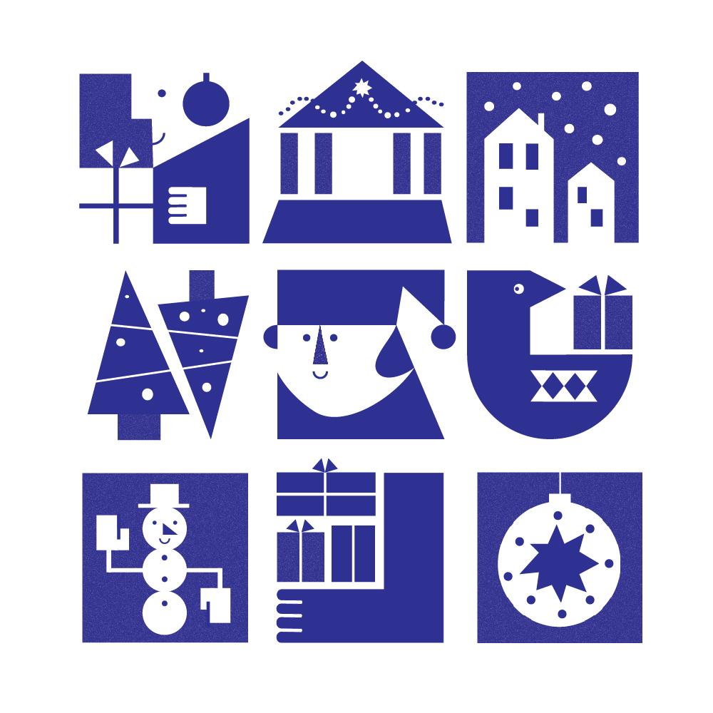Tate Britain Christmas branding - December 2017