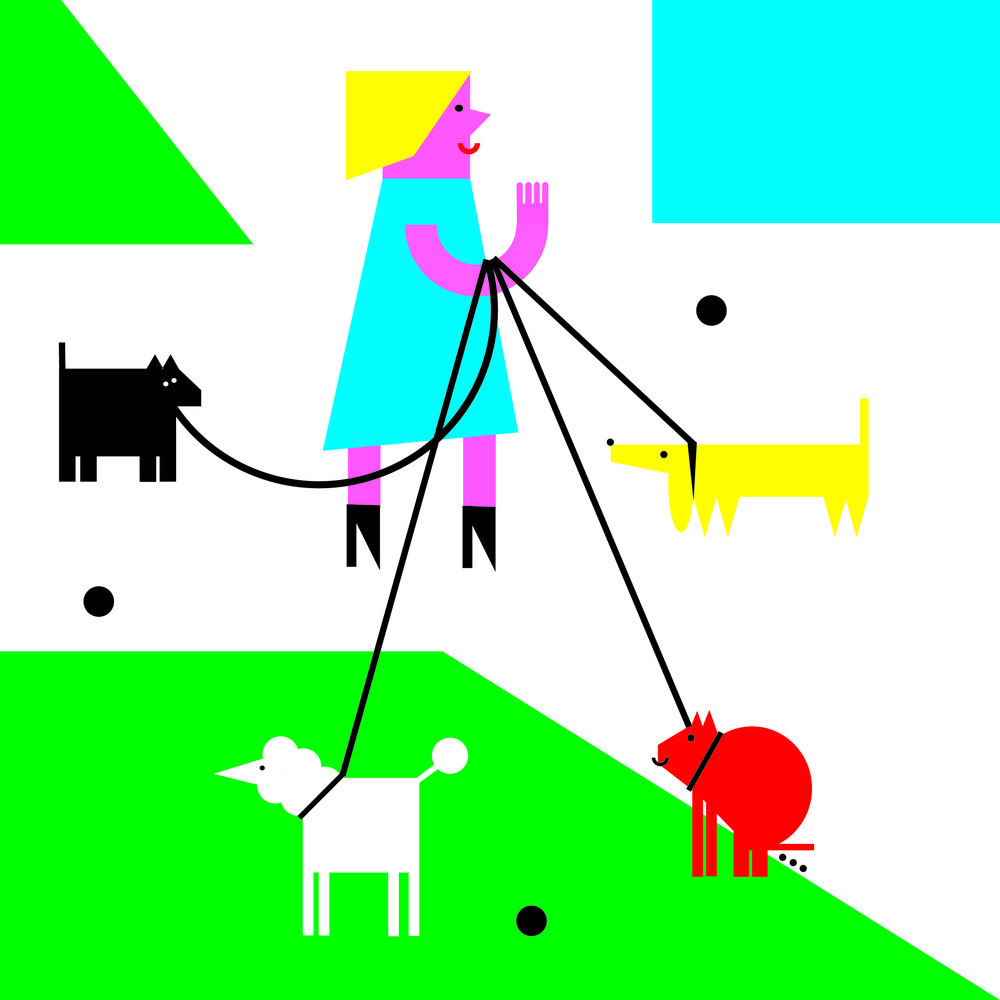 'Neighbours' book illustration by Dominika Lipniewska