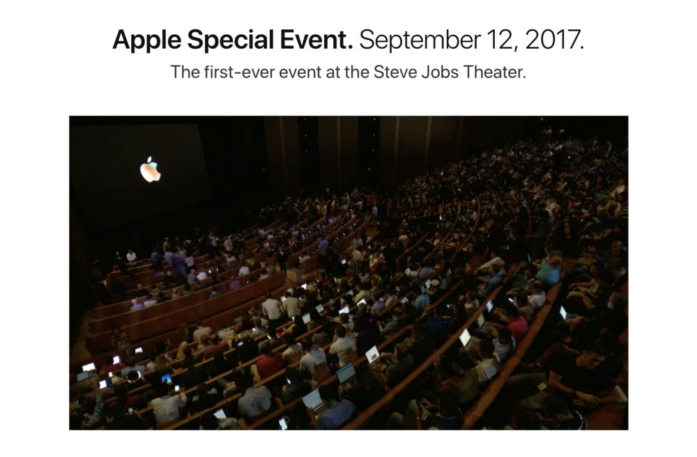 Apple Special Event at new Steve Jobs Theater.