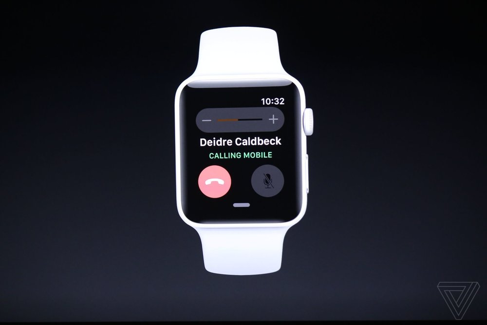 New Apple Watch Series 3 will allow for mobile calling.