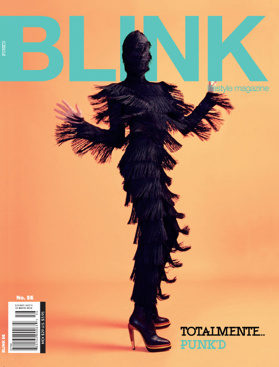 Viktor Luna bodysuit on the cover of BLINK