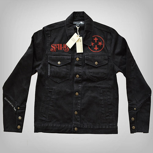 Ladies' Black Denim Jacket — Sahg