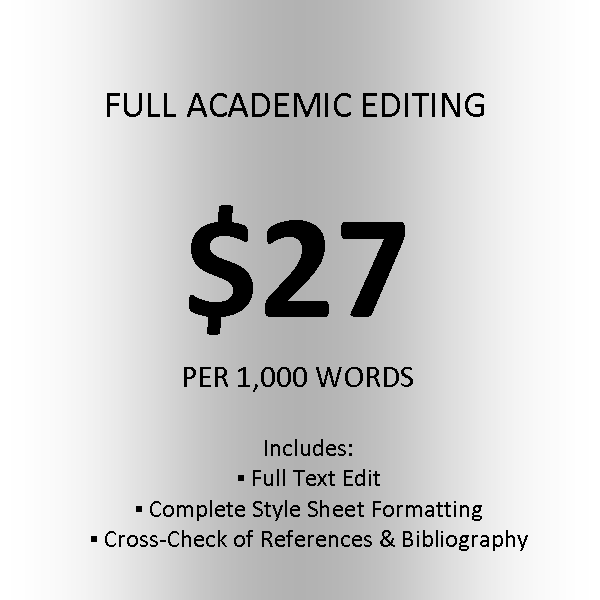 Click here for pricing on other academic services.