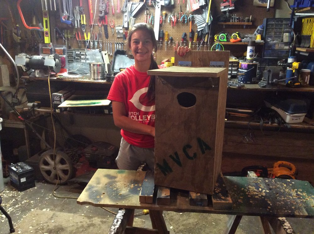 Sarah making wood duck boxes 8-2015 (14).JPG