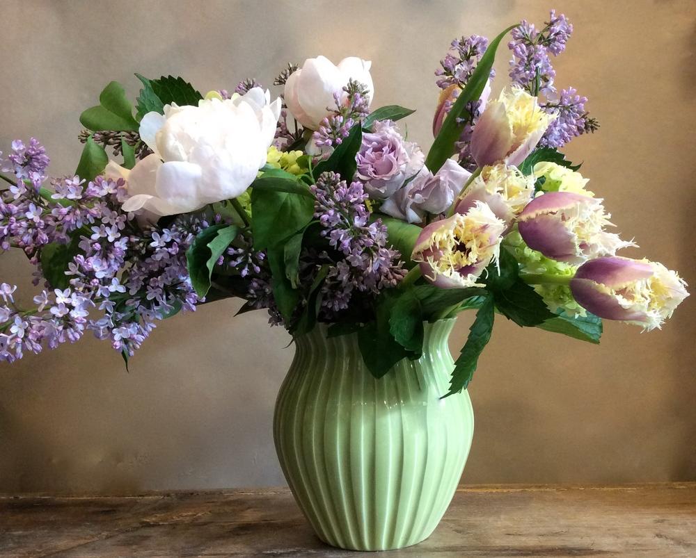 Spring pastels in handmade vase