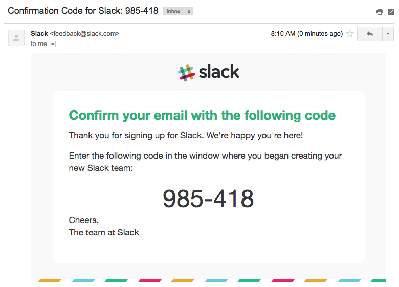 Slack email validation code