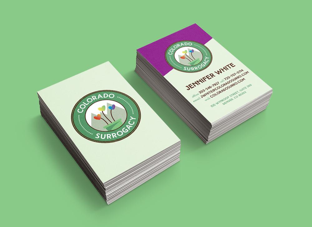 Colorado Surrogacy Business Card Design