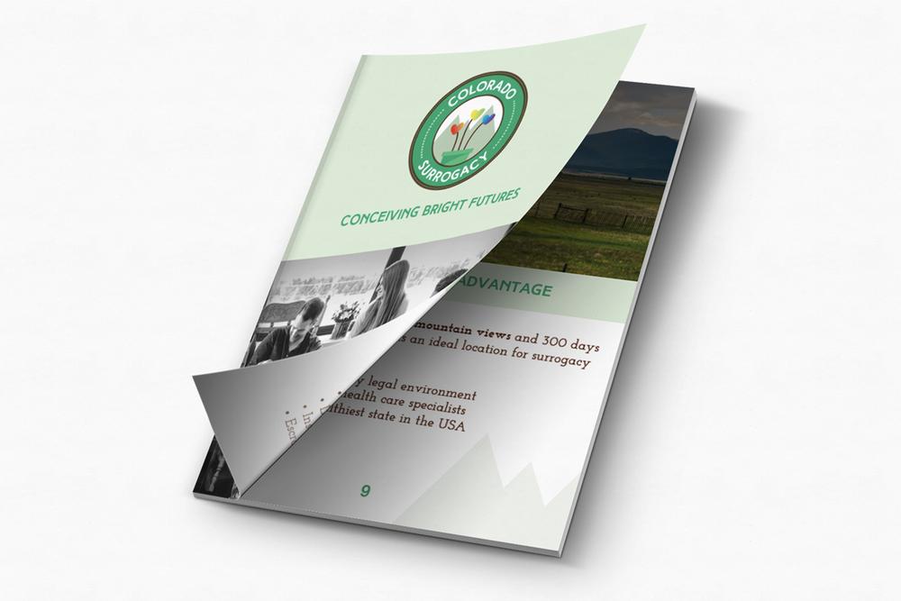 Print Marketing Material Design for Colorado Surrogacy