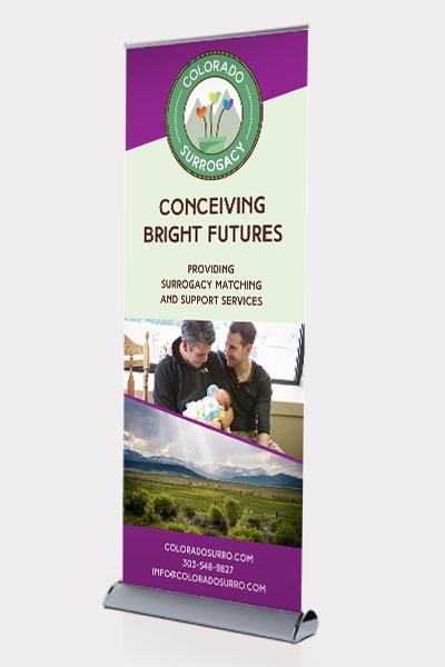 Trade Show Banner Design for Colorado Surrogacy