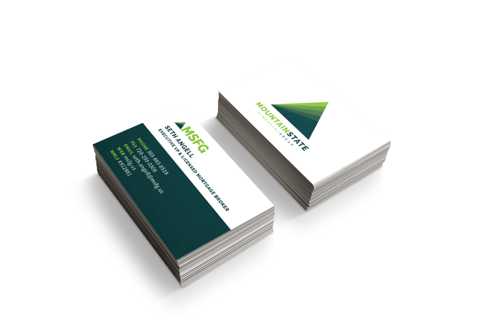 Custom Business Card Design for Mountain State Financial Group