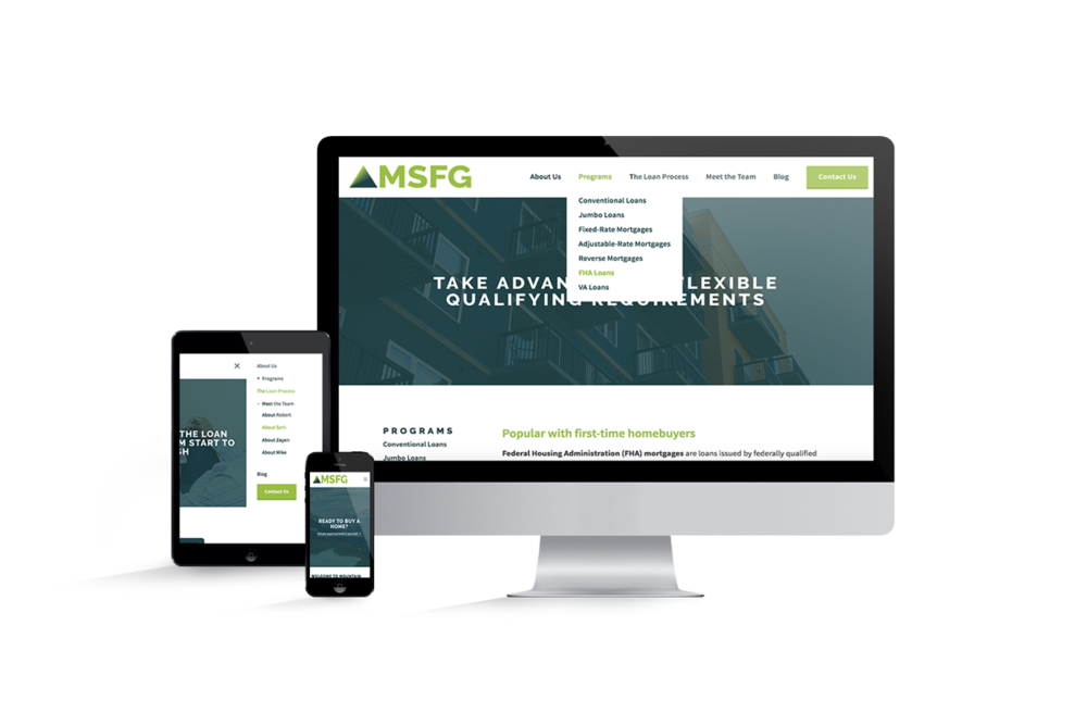 Squarespace Responsive Website Design for MSFG