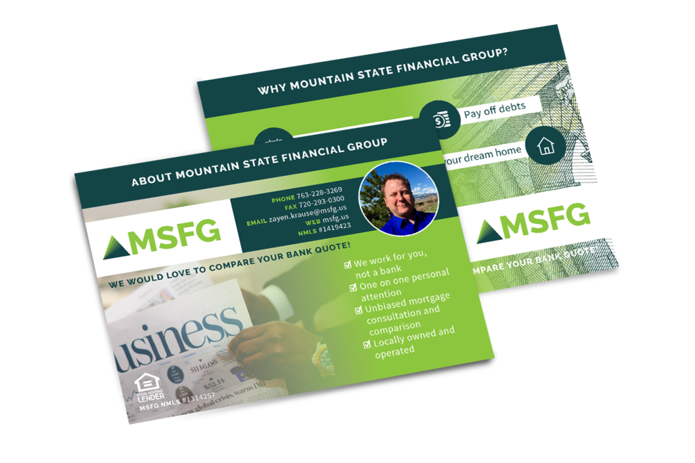 Promotional Postcard Design for MSFG