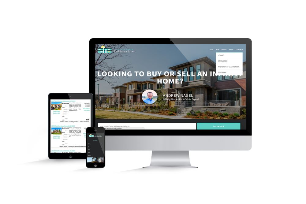 Responsive real estate website with IDX Broker integration on Wordpress - agency for hire in Colorado