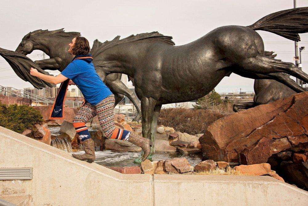 I run with the Denver Broncos.    Photo credit  Britt Nemeth Photography