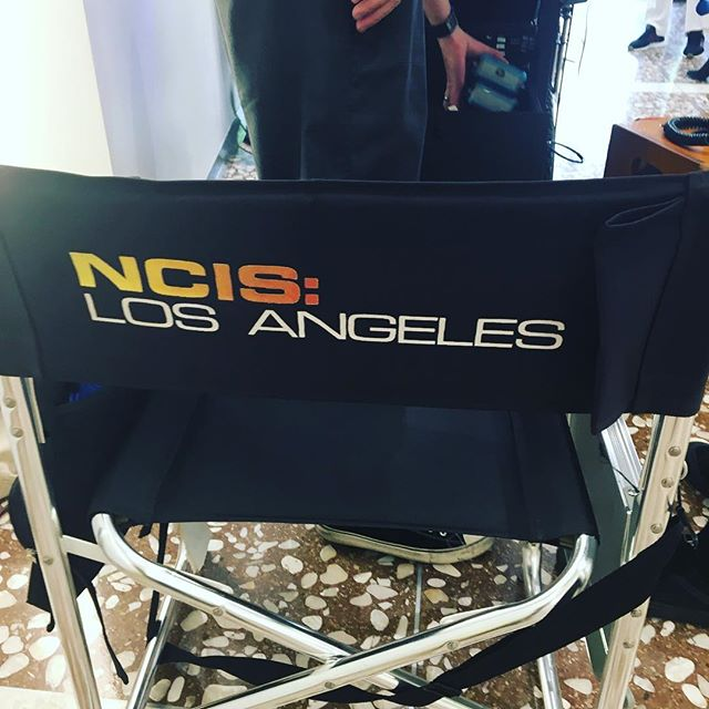 Today we were part of an awesome production. We had to close to the public but the experience was unbelievable #movieset @hollywood #ncis #ncisla #tvshows