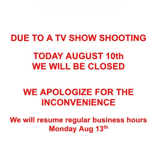 Today @CiabattaBar  we apologize for the inconvenience