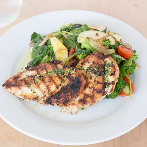 Grilled Marinated Chicken Salad