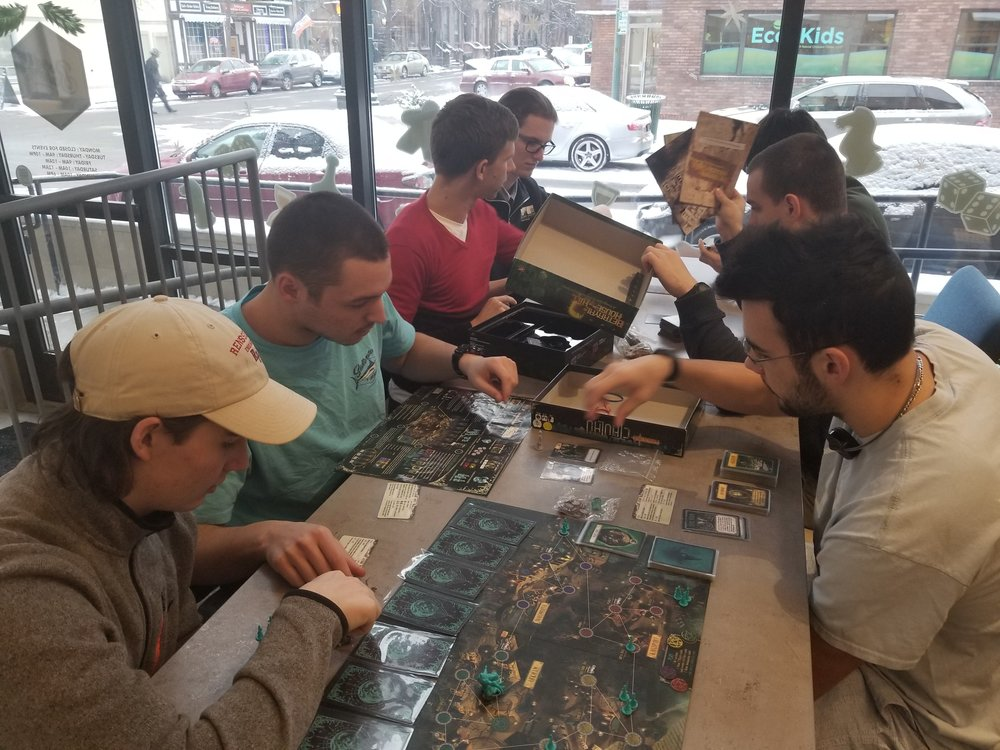 Board games at Bard and Baker's in Troy.