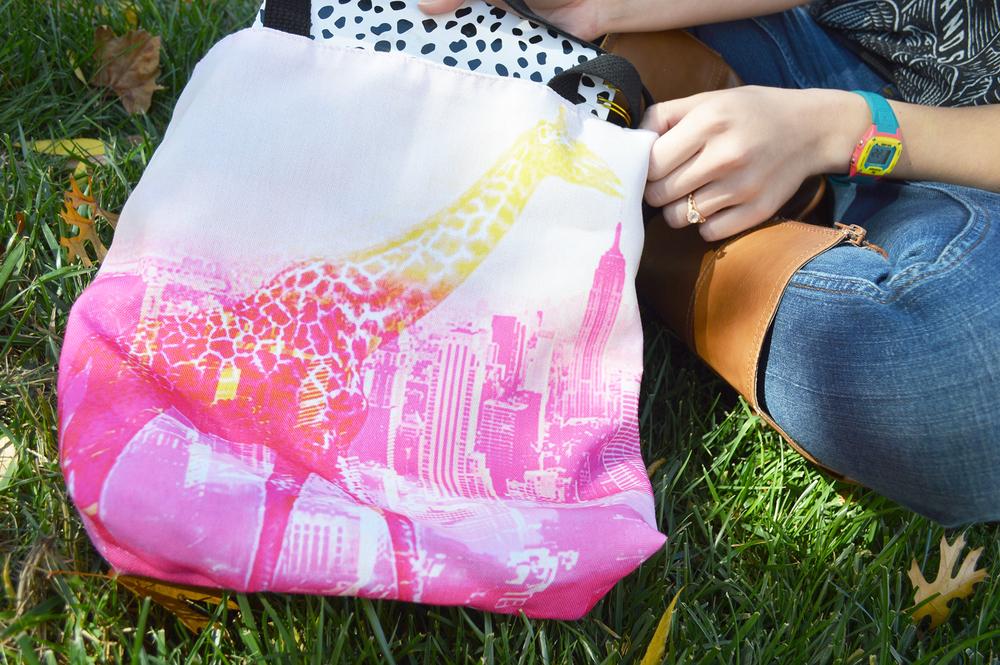 Urban Giraffe Tote Bag