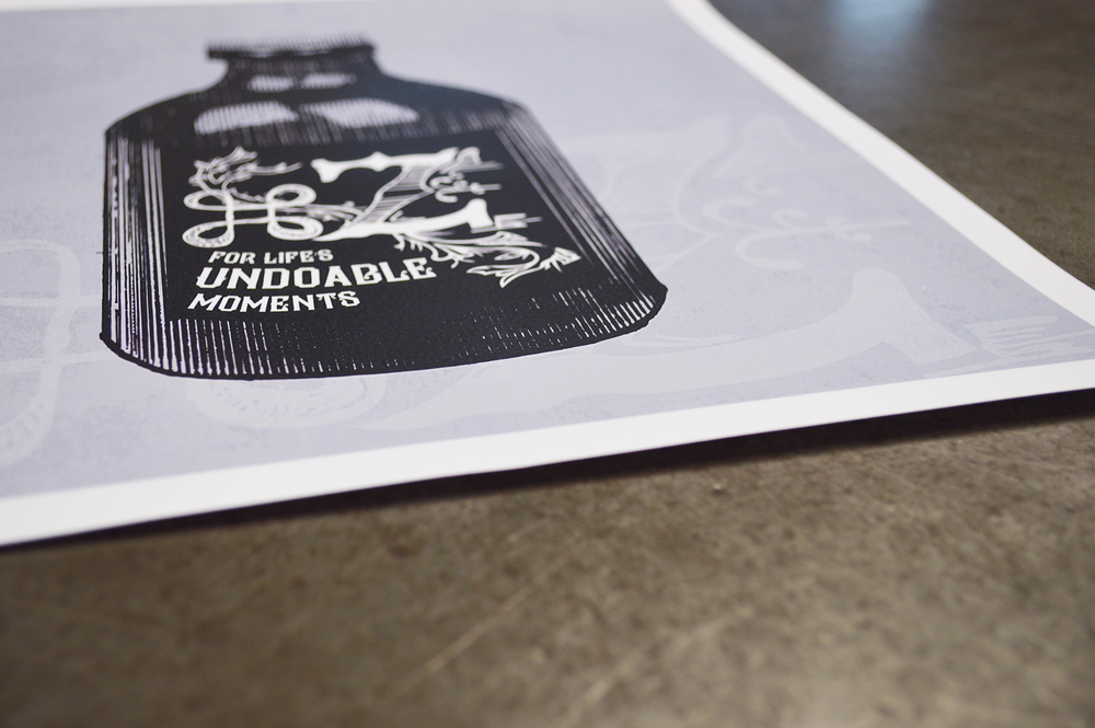 Command+Z Art Print