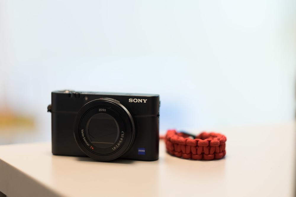 Sony RX100 M4 with DSPTCH Camera Wrist Strap