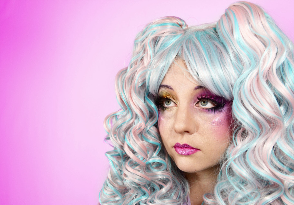 wig:kawaii nola; model: katy kirby; makeup by: midori taijri-byrd