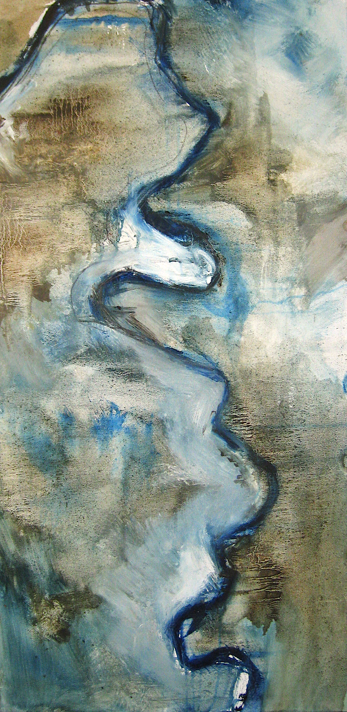 """MEANDER"" Oil and Graphite on Canvas"