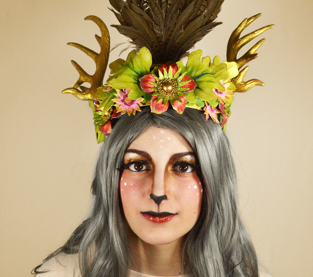 Headdress by local designer Caroline Thomas. Wig from Miette. Makeup by Midori Makeup Artistry. (pictured: Gabby Hime)