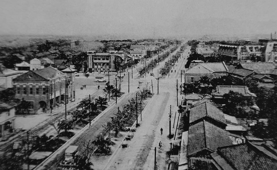 Three-Lane Road in Taipei during Japanese Occupation
