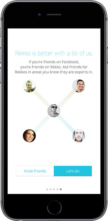 Onboarding example: Rekko is better with friends