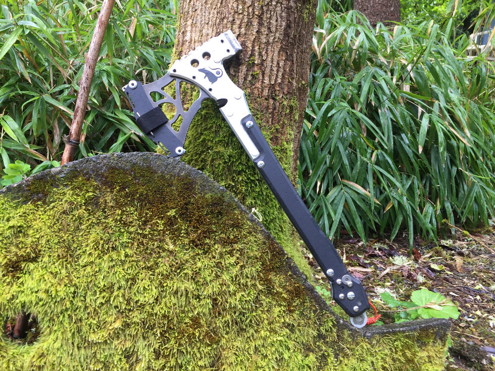 ETCH - A badass axe/saw combo designed for vehicle-based adventures that gets the job done without adding unnecessary weight.Buy it because it looks cool.Love it because it works.