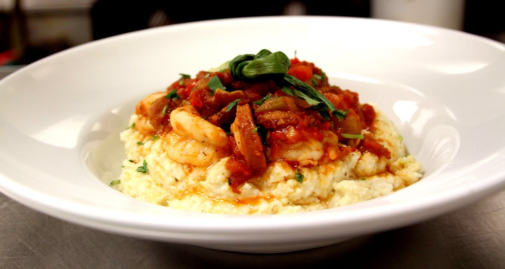 Boojum Brewing Food Shrimp and Grits.JPG