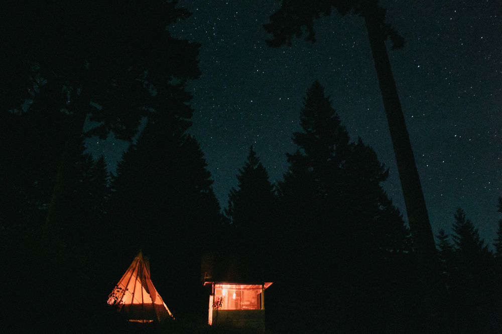 Glamping teepee in Columbia River Gorge Oregon
