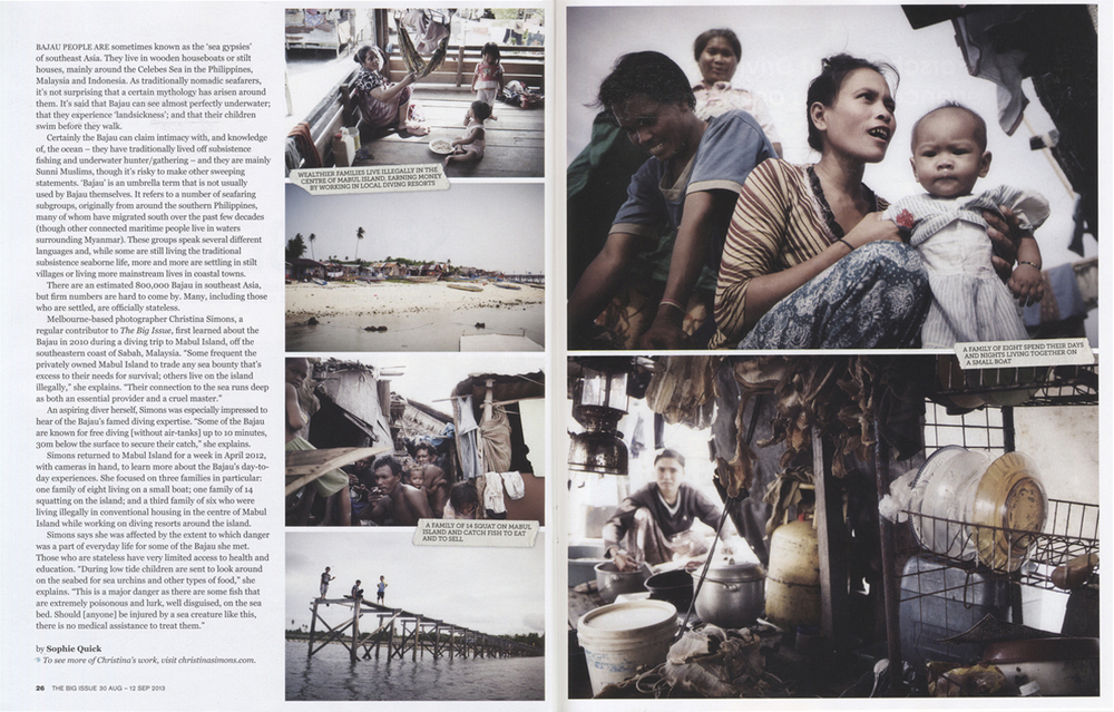 THE BIG ISSUE - The Bajau People - Sea Gypsies of the Celebes Sea