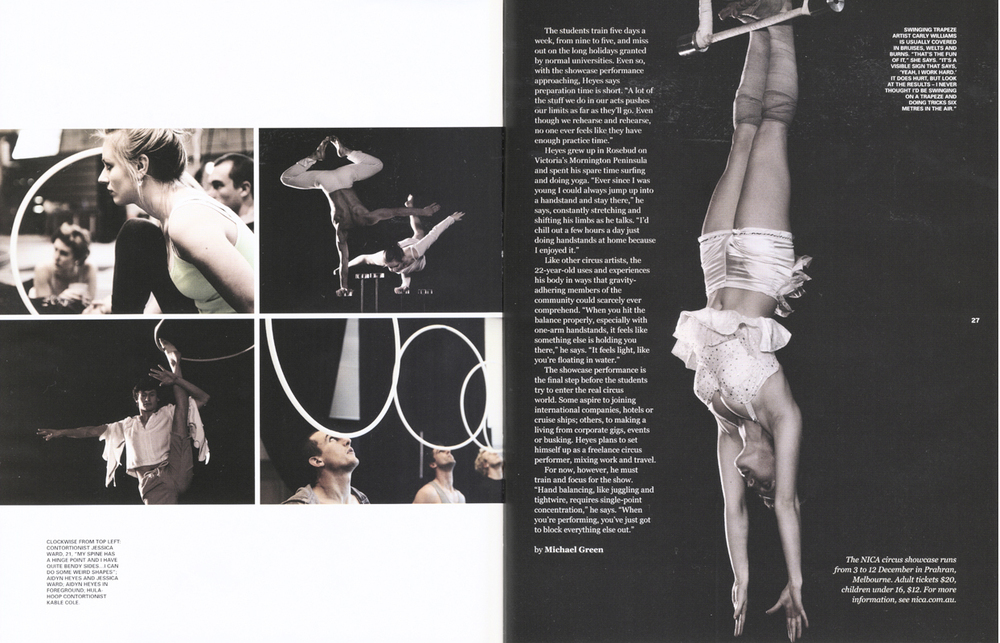 THE BIG ISSUE - NICA Circus School