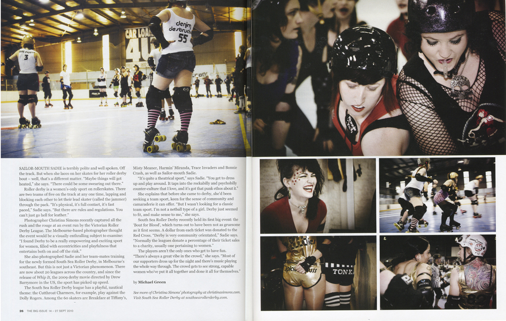 THE BIG ISSUE - Roller Derby