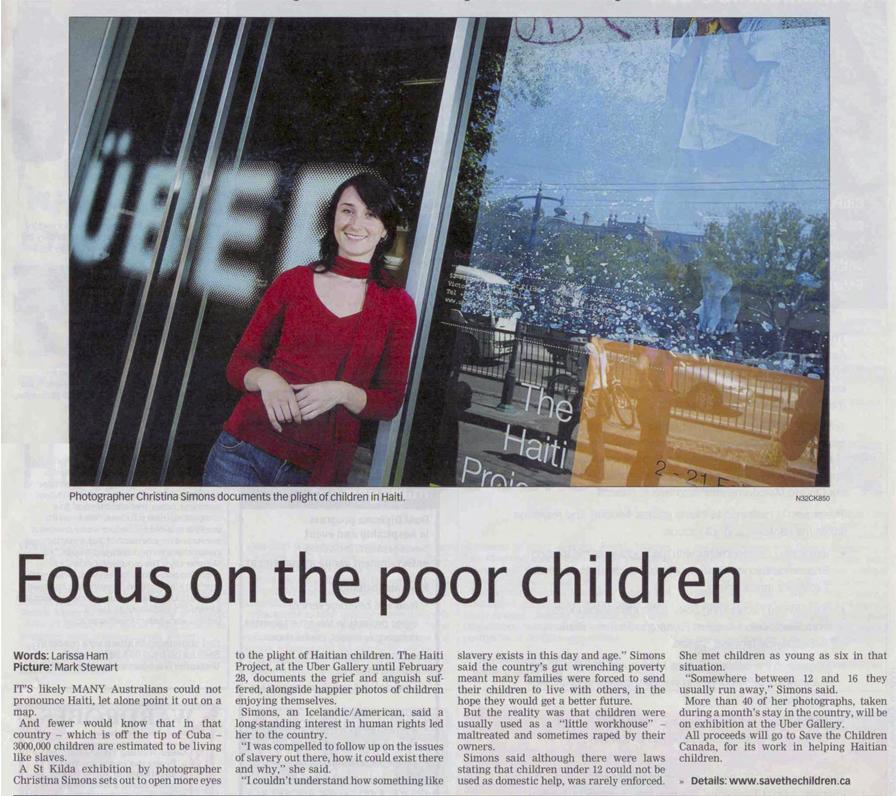The Haiti Project 2007 Press