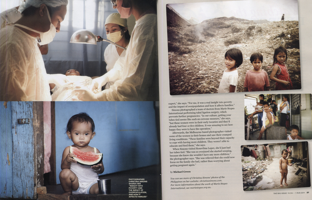 THE BIG ISSUE - Marie Stopes - Womens Reproductive Health Philippines