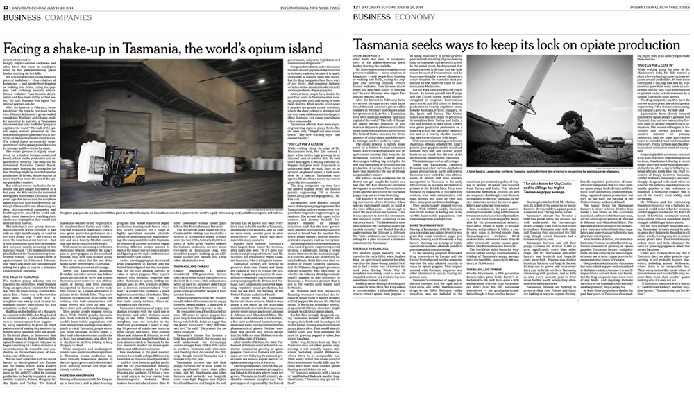 The New York Times, International Sunday Business Europe & Asia