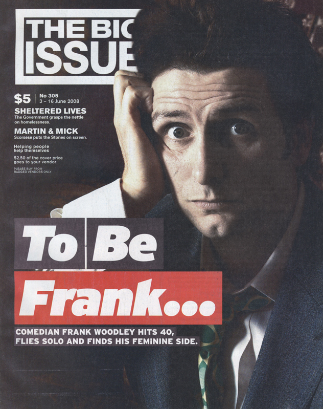 THE BIG ISSUE - Frank Woodley Cover Story
