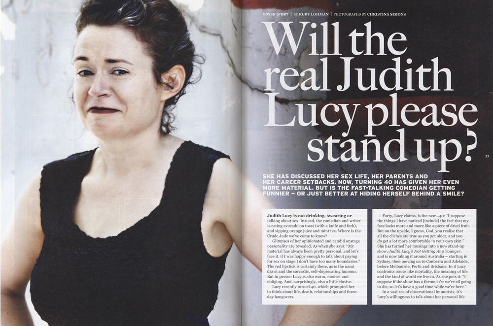 THE BIG ISSUE - Judith Lucy