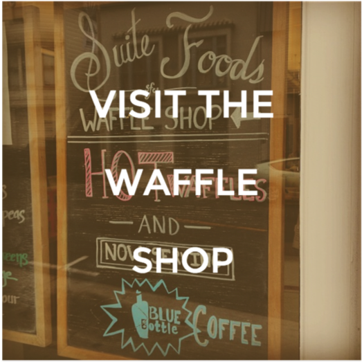 Come into our waffle cafe and enjoy fresh, made-to-order waffles.