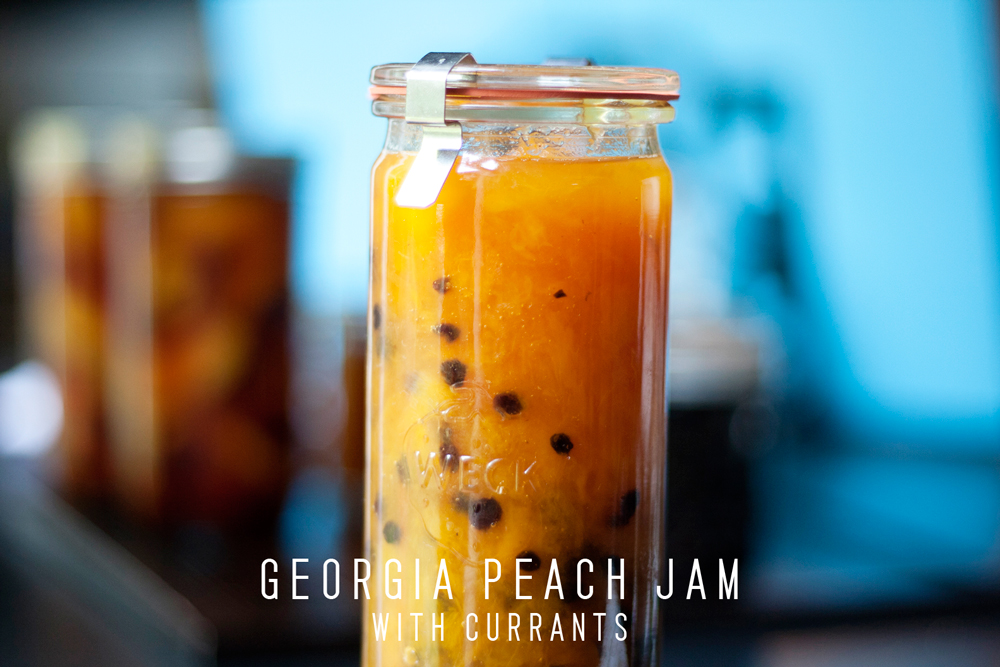 Georgia Peach Jam Recipe with Dried Currants by Homespun ATL | Chef Jason Jimenez | Atlanta, GA