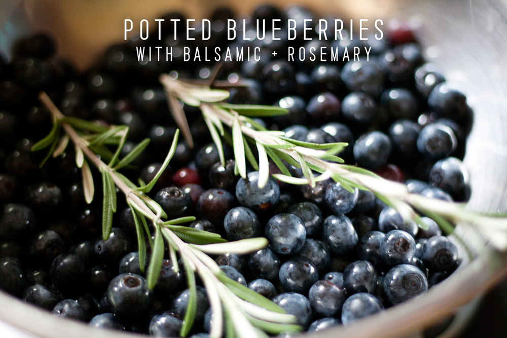 Recipe: Potted Blueberries with Balsamic and Rosemary by Homespun ATL | Chef Jason Jimenez | Atlanta, Ga