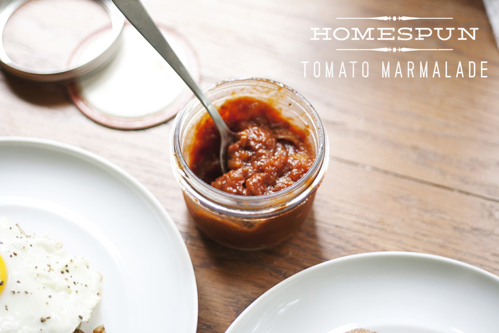 Tomato Marmalade Recipe from Homespun ATL