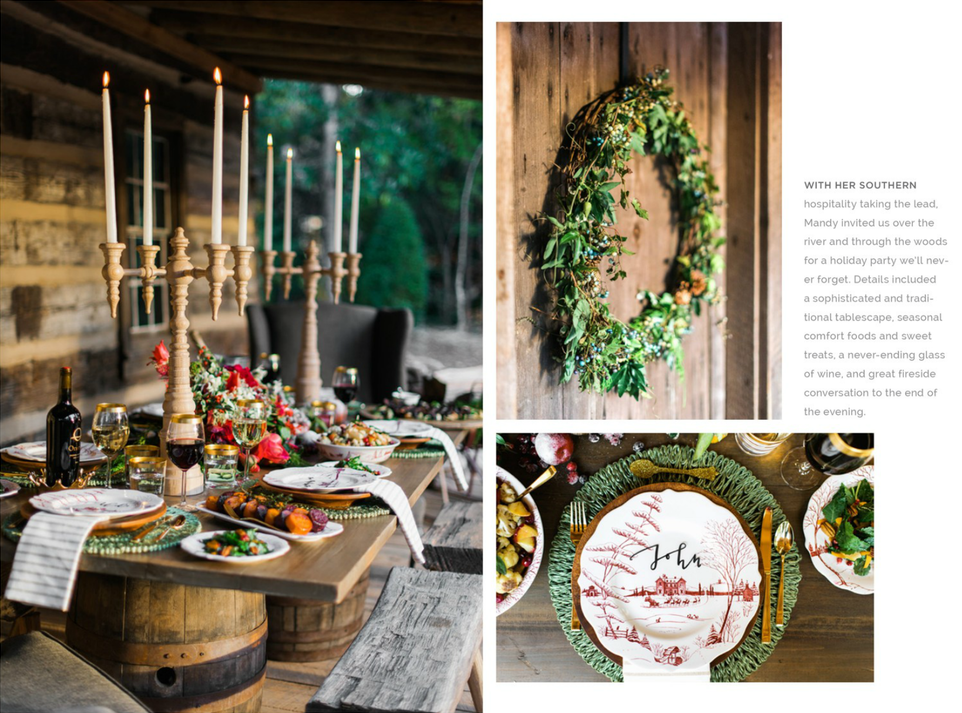 Winter Wonderland On Rue Magazine with Homespun ATL